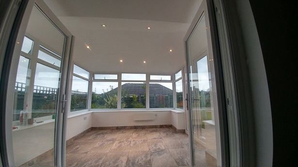 inside a solid roof conservatory