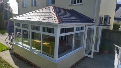 completed solid roof conservatory Surrey